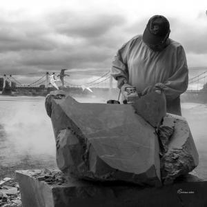 Sculpteur pierreMontjean-sur-Loire