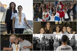 Véronique Maillet Maire de Bouchemaine accueille Cindy Moreau médaille de bronze aux jeux paralympiques de Rio